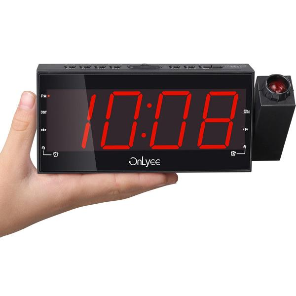 Projection Clock Radio with AM/FM Radio