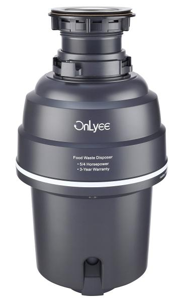 OnLyee 5/4 HP Food Waste Household Garbage Disposer Gray